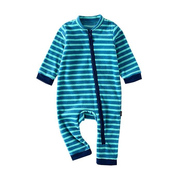 9c8494a33c00 Amazon.com  Milkiwai Newborn Baby Warm Pajamas Flannel Romper ...
