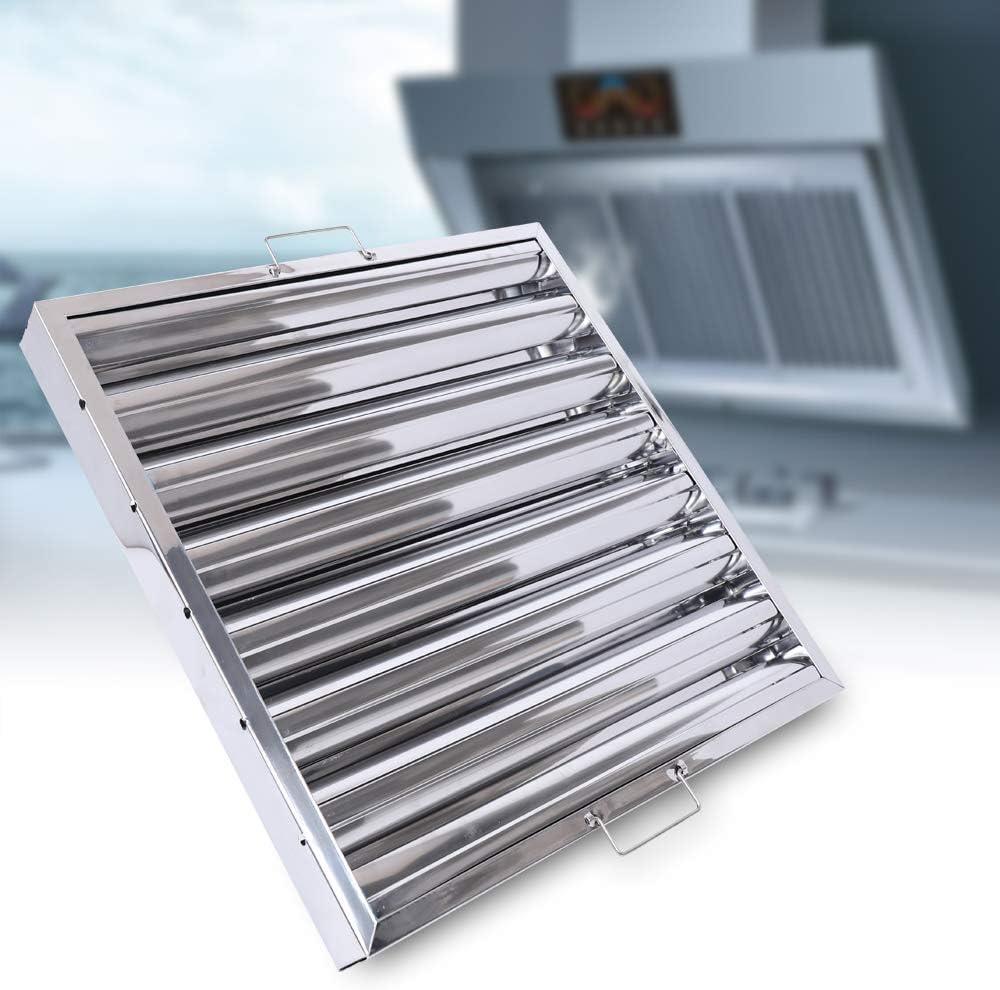 Filtro ignífugo, 49 x 49 x 4,8 cm, filtro de grasa, filtro de ventilación, campana extractora, filtro con 7 ranuras: Amazon.es: Grandes electrodomésticos