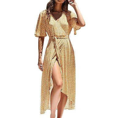 YGbuy-Vestido de Falda de Gasa de Encaje de Cintura Alta de Moda ...