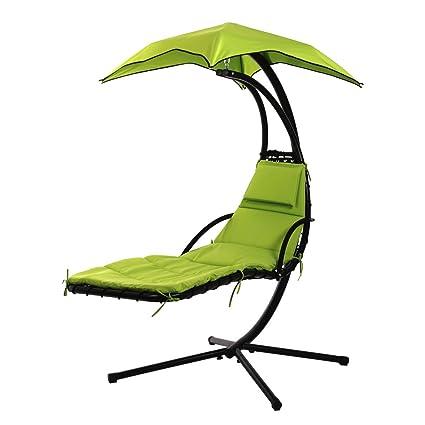 Bon FDW Hanging Chaise Lounger Chair Arc Stand Air Porch Swing Hammock Chair  Canopy