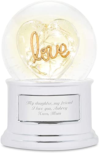 Things Remembered Personalized LED Love Light Up Snow Globe with Engraving Included
