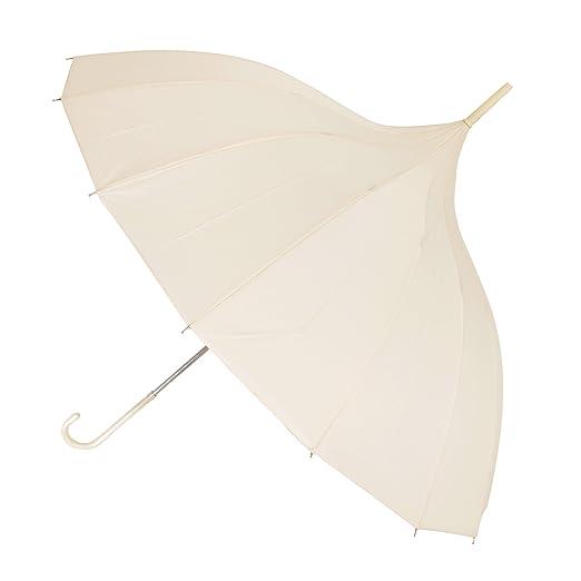 20a6a82f9c48b X-brella Leather Look Handle Pagoda Wedding Umbrella