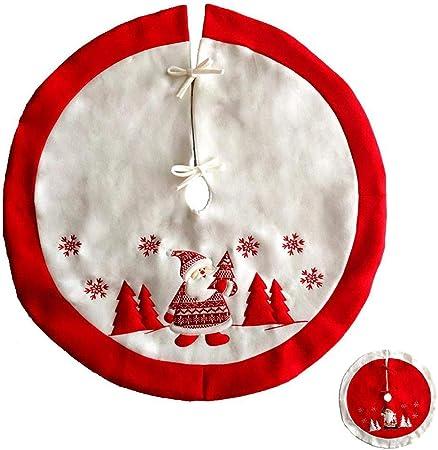 Jspoir Melodiz Grand Jupe De Sapin De Noël Rouge/Blanc avec ...
