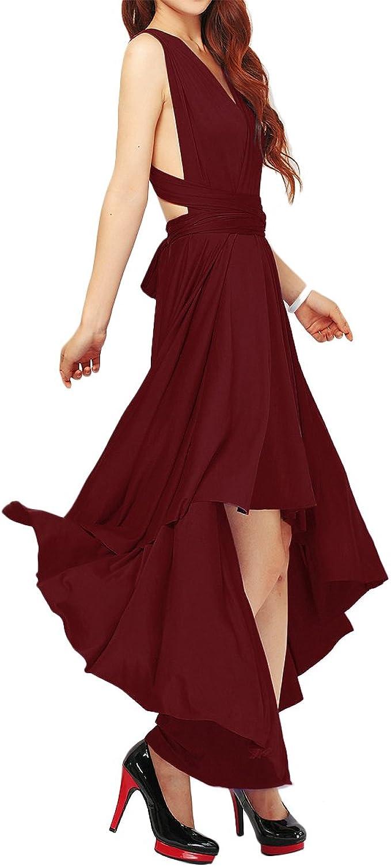Damen Umwandelbares Brautjungfern-Maxi-Kleid, Mehrweg-Wickelkleid,  Abendkleid, formelle Hochzeit, Party, lange Kleider
