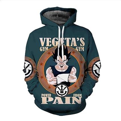 HOOSHIRTA Mens Hooded Sweatshirt Dragon Ball Hoodie Sweatshirts 3D egeta Hoodies Homens Sweat Homme Sudaderas Con