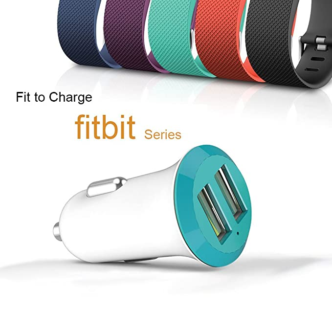 Dual USB cargador para el coche - para Fitbit Blaze/DE carga ...