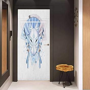 Amazon.com: Onefzc - Papel pintado para puerta, diseño de ...