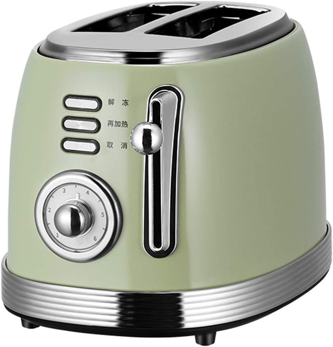 Retro Toaster, 6 Browning Settings, Reheat/Defrost/Cancel Function,with Stainless Steel Sandwich Clip,Multifunctional Heating Breakfast Machine