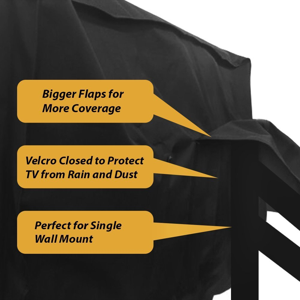 Outdoor TV Cover 58'' - 60'' - with Bottom Cover - The Weatherproof and Dust-Proof Material with Free Microfiber Cloth. Protect Your TV Now! by Clicks