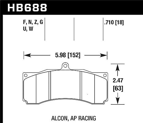 Amazon com: Hawk Alcon/Ap Racing/Baer Hps Brake Pads By Jm