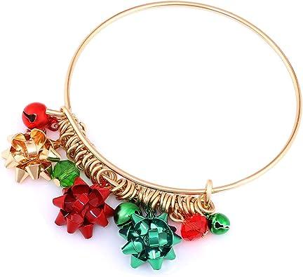 Girls Christmas bracelet Chunky reindeer stretch bracelet