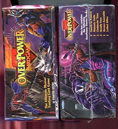1995 Fleer OverPower Card Game Set Starter Deck Box Pack Marvel Over Power