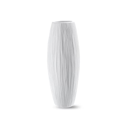 Amazon 8 small oval pure white ceramic flower vase 8 small oval pure white ceramic flower vase waterfall textured elegant design mightylinksfo