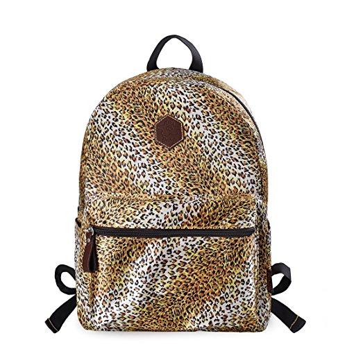 Cheetah Leopard - Douguyan Leopard Youth Backpack Lightweight Cheetah School Book Bag Girl Daypack Yellow Leopard 133C