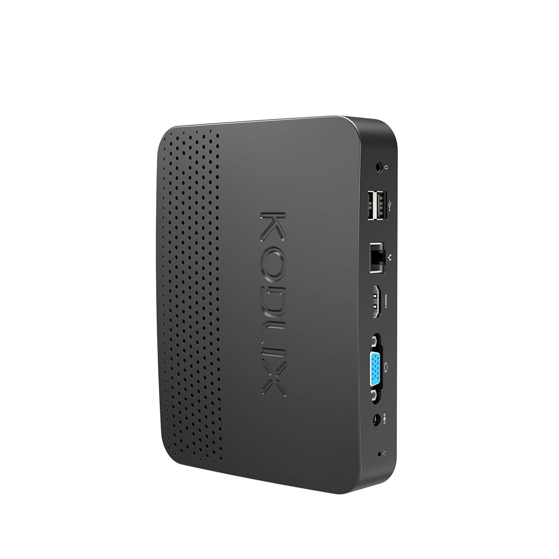 Z83-F Fanless Mini PC, Processeur Intel Atom x5-Z8350(2M Cache, fino a 1,92 GHz)4K/4GB/32GB 1000Mbps LAN 2.4/5.8 WiFi Bi-Bande BT 4.0 Affichage Double É cran avec Ports HDMI et VGA Celtics
