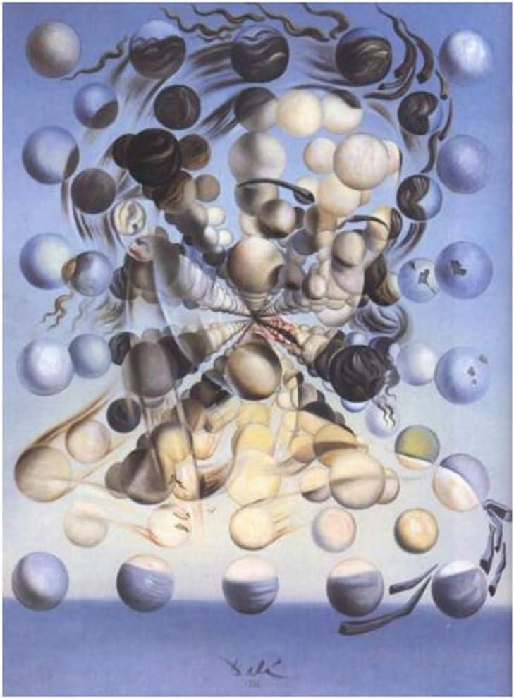 Salvador Dali Galatea de las esferas Art Wall Decor Print Poster-50x70cm Sin marco