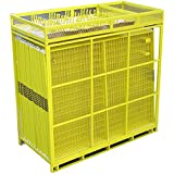 Crowd Control Temporary Fence Panels - Perimeter Patrol Portable Security Fence Full Pallet 210 Linear Feet - Safety Barrier for protecting property, construction sites, outdoor events. 7.5W x 6H Yellow