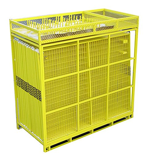 Crowd Control Temporary Fence Panels - Perimeter Patrol Portable Security Fence Full Pallet 210 Linear Feet - Safety Barrier for protecting property, construction sites, outdoor events. 7.5'W x 6'H Yellow