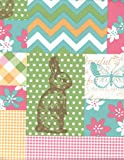 Easter Patchwork Colorful Peva Vinyl Tablecloth - 60 Inches Round