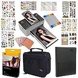 Kodak Dock 4x6'' Printer Gift Bundle + 40 Paper + 9 Unique Colorful Sticker Sets + Case + Markers + Photo Album + Sticker Frames