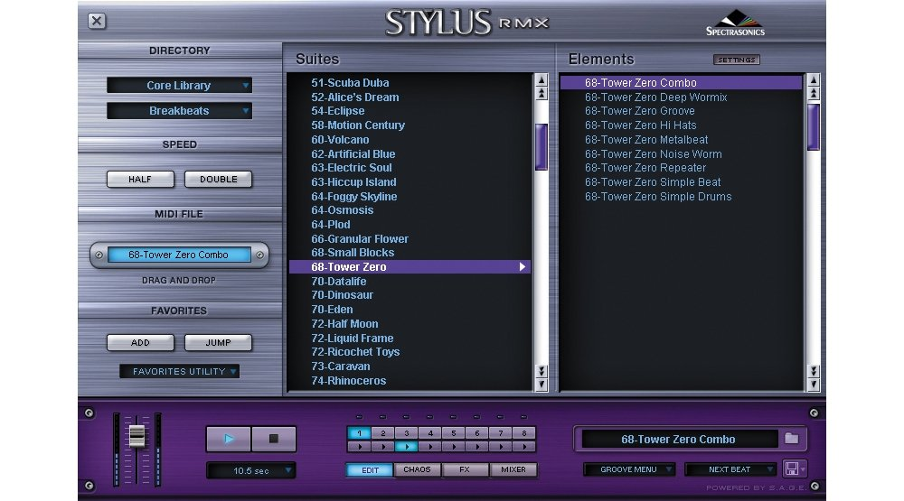 Spectrasonics Stylus RMX Xpanded Realtime Groove Module Virtual Instrument  Software