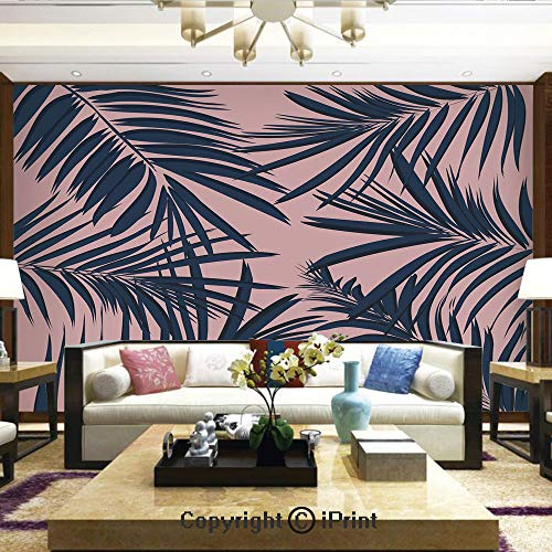 - Lionpapa_mural Removable Wall Mural | Self-Adhesive Large Wallpaper,Summer Exotic Floral Tropical Palm Tree Leaf Banana Plant Hawaii Decorative,Home Decor - 66x96 inches