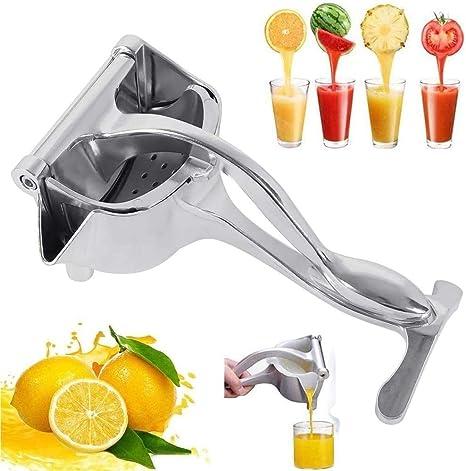 Stainless Steel Manual Fruit Juicer Portable Heavy Duty Alloy Hand Juicer Lemon Orange Squeezer Press Citrus Squeezer