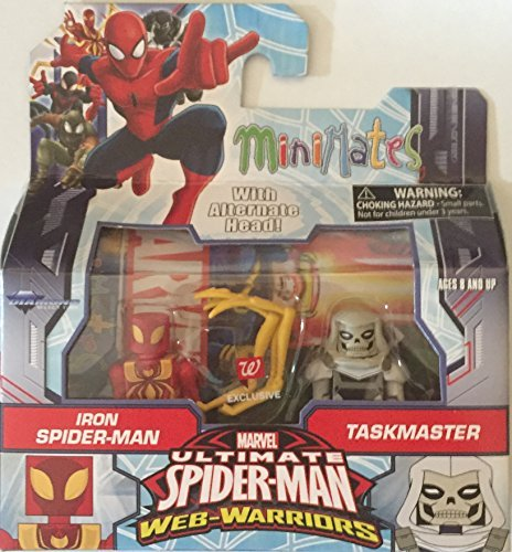 Marvel Minimates Ultimate Spider-Man Web Warriors Iron Spider and Taskmaster - Minimates Spider Iron