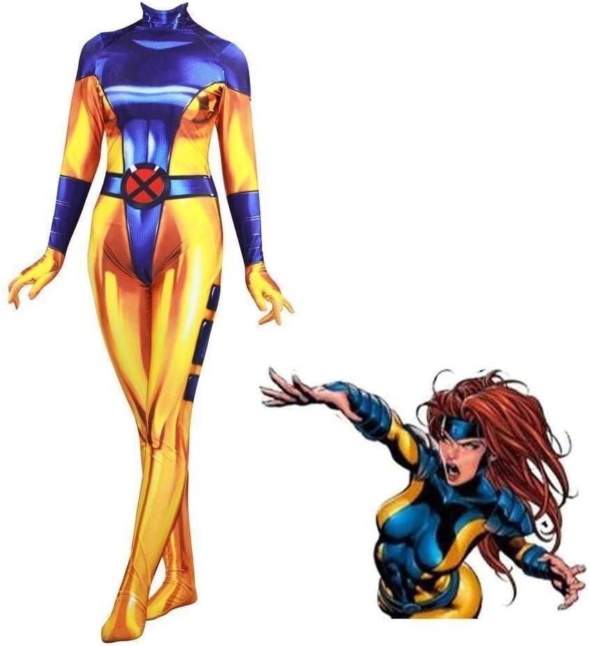 X-Men Phoenix Mujer Cosplay Amarillo Disfraz Halloween Carnaval ...