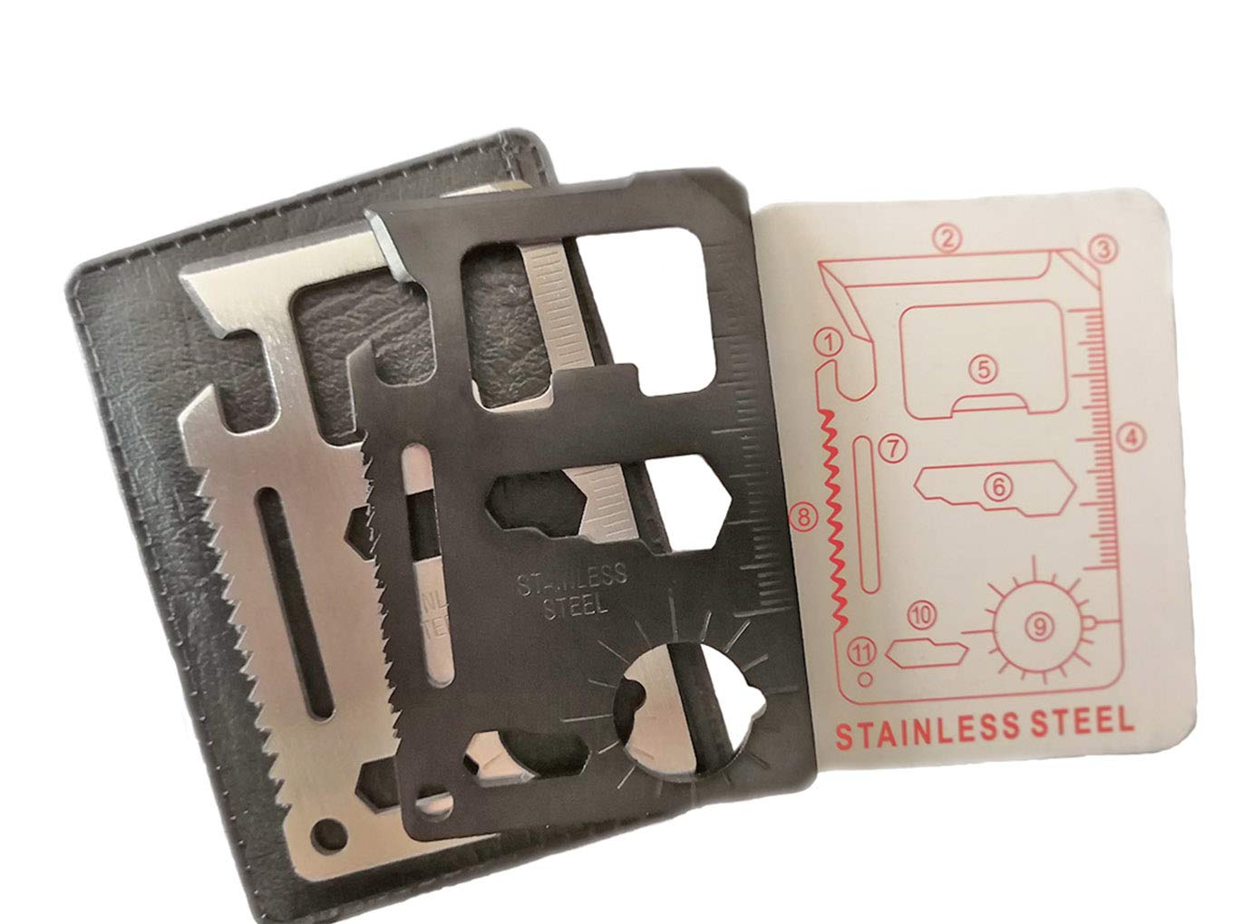 機能ステンレススチールサバイバルポケットツール   B07LCF7277