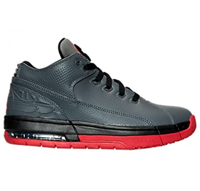 0b3384fd94dcd2 Jordan Nike Air Ol  School Low Men s Basketball Shoes Dark Grey Gym Red  Black