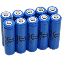 10x 14500 Battery for LED Torch Flashlight Headlamp 3.6/3.7V Li-ion Rechargeable