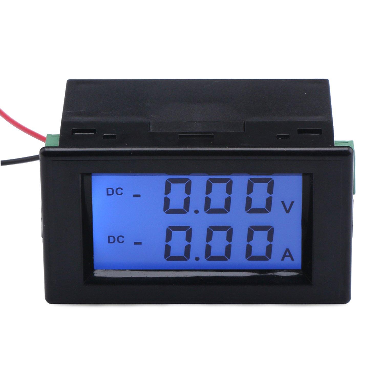 DROK reg; DC 0-19.99V Digital Voltmeter Ammeter Blue Backlight LCD Display Voltage Meter Ampere Converter Dual Tester Current Monitor Volt Amp Detector Car Gauge DEOK 100412_EU