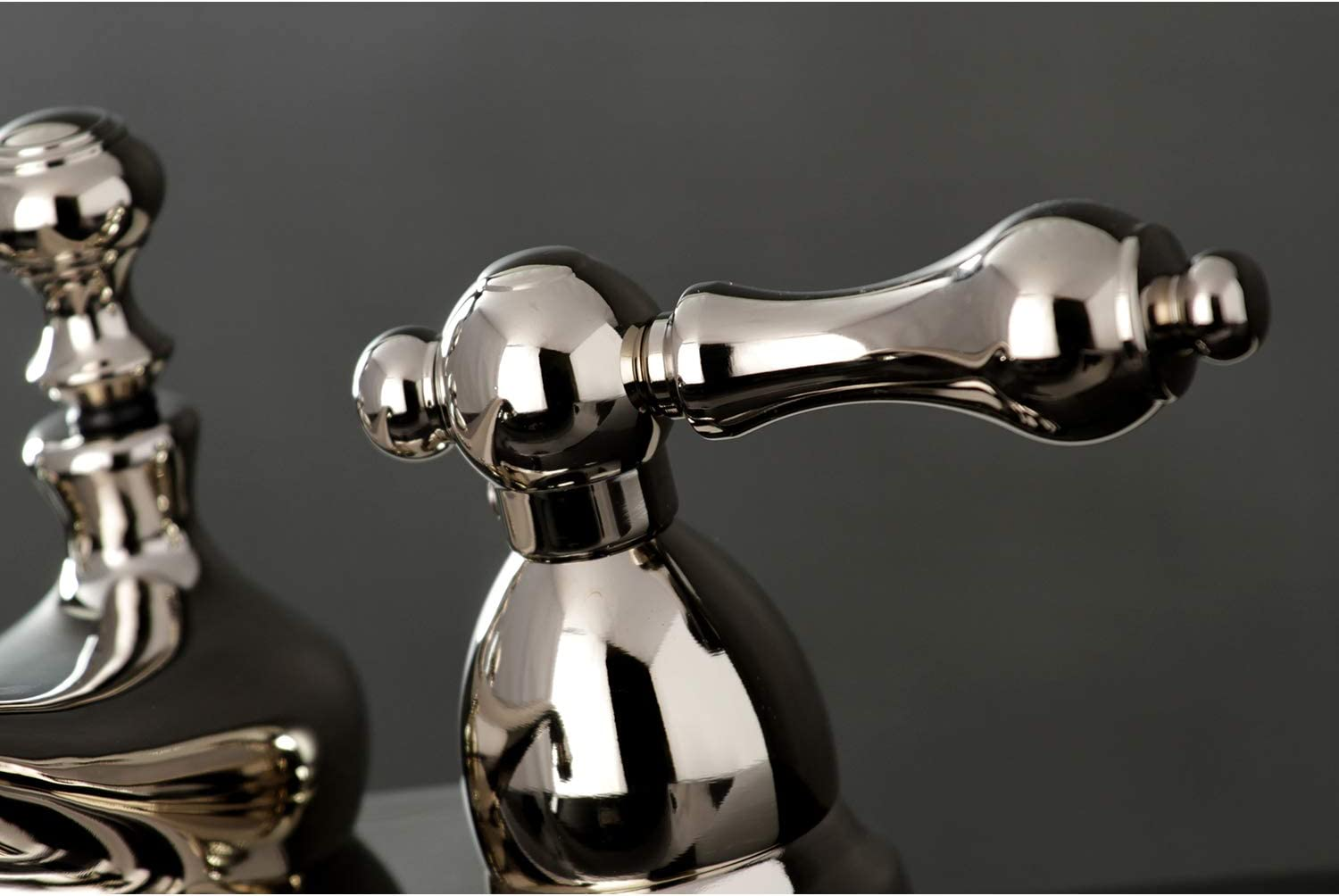 Kingston Brass KB3405BL Victorian 4-Inch Centerset Lavatory Faucet Oil Rubbed Bronze with Metal lever handle