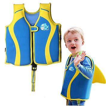 ZEEUPAI - Chaleco Flotador de Neopreno con Diseño único de la Aleta Dorsal para Niños -