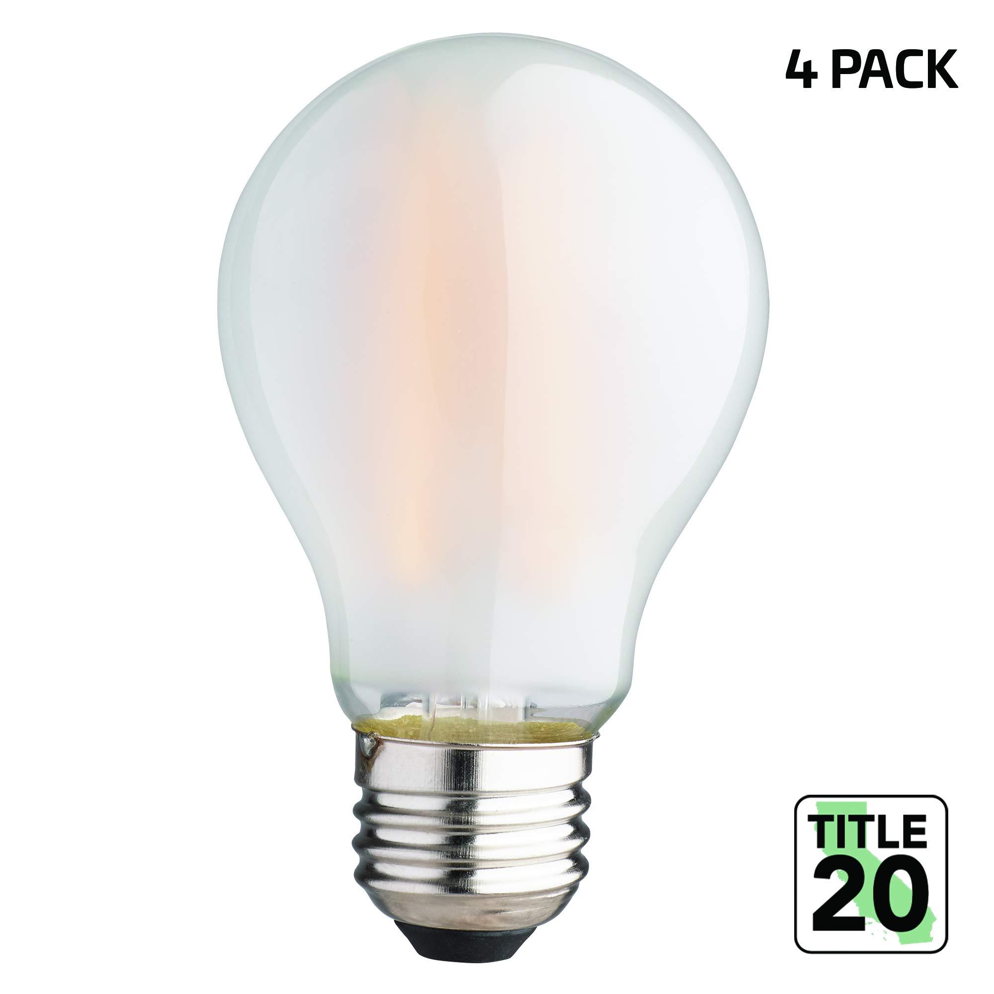 Newhouse Lighting NHLB-LED-4A19 750 Lumen A19 LED, 90 CRI, Warm White, E26 Base, Title 20 Compliant, Shatterproof Bulb, 4-Pack