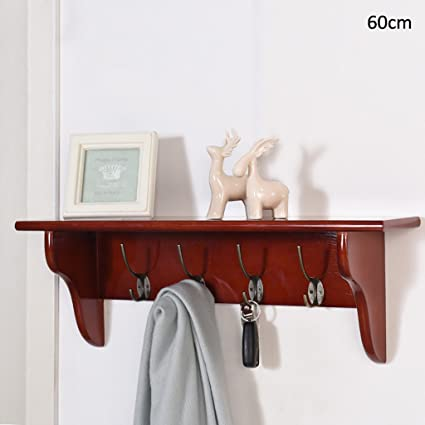 Amazon.com: CHAOYANG Coat rack Solid wood coat rack Wall ...