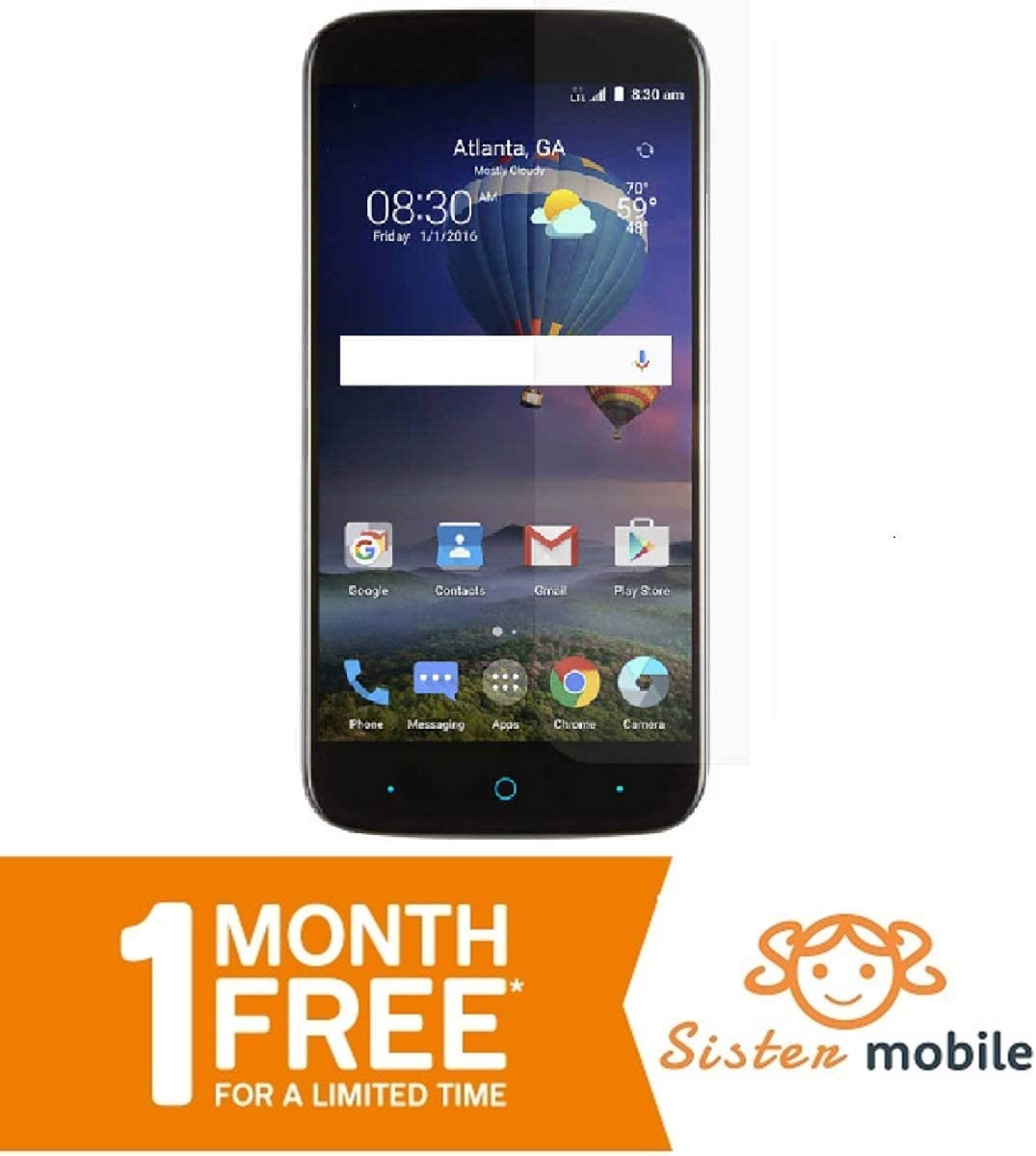 Amazon Com Quest Prepaid Cell Phone One Month Free Service Charger Smartphone Android With No Contract After The Free Month It Starts 5 A Month With Cheapest Rate
