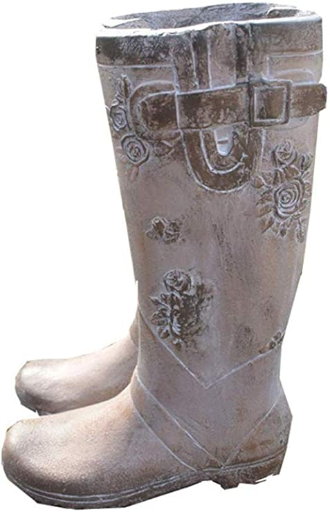 Estatuas Figuritas Decoración Botas De Lluvia Maceta Maceta Retro Maceta Creativa Decoración Jardín Decoración: Amazon.es: Hogar