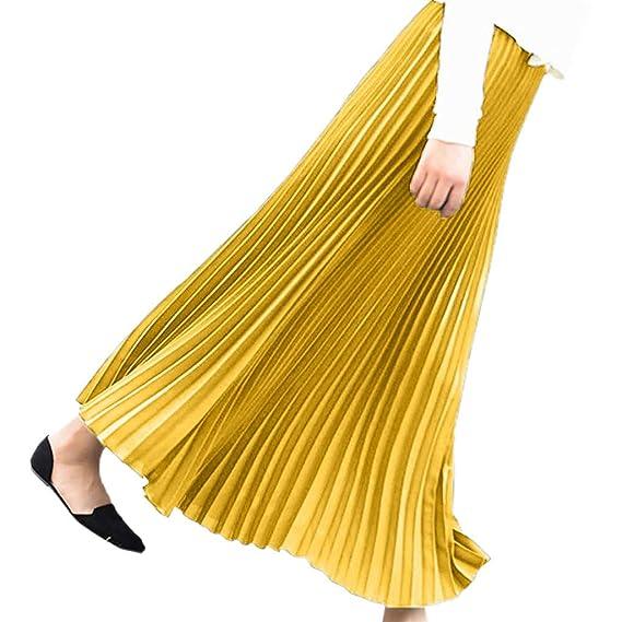 Faldas Mujer Largas Plisada Verano 2019 PAOLIAN Faldas Mujer ...