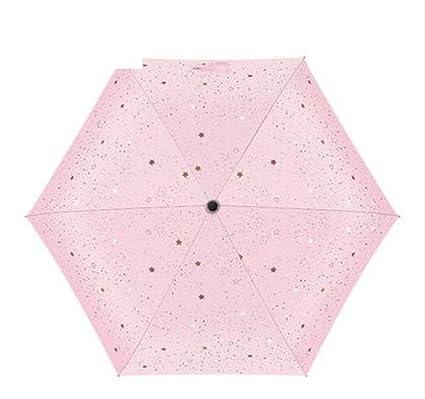 Sombrillas/paraguas ligero estupendo del sol peque?o/visera,anti-uv,doblar,[ paraguas soleados]/doble uso,protecciš®n solar,vinilo,cinco doble paraguas-A: ...