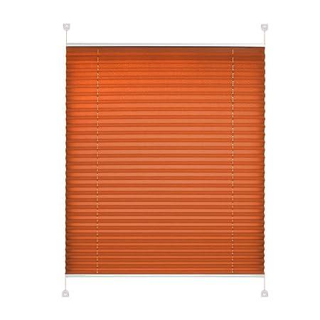 Amazonde Plissee Klemmfix Ohne Bohren 90x220 Cm Orange