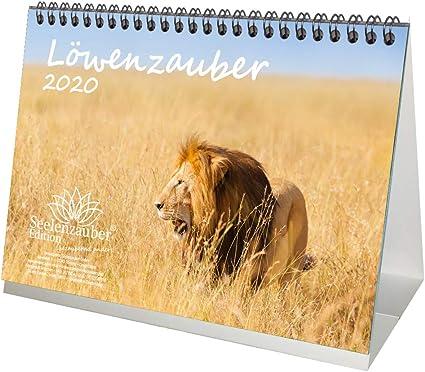 DIN A5 1 biglietto di auguri e 1 biglietto di Natale Calendario da tavolo//calendario 2020 edizione Seelenzauber motivo: cani grandi set regalo per cuccioli e cani