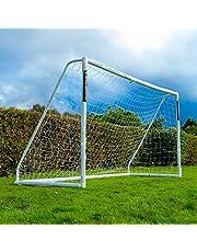 Football Flick - Porta da Calcio per Tutte Le Stagioni, in uPVC, con Pali con Trattamento UV, 70 mm di Spessore (Dimensioni: 182 x 122 cm, 244 x 122 cm, 244 x 182 cm, 366 x 182 cm)