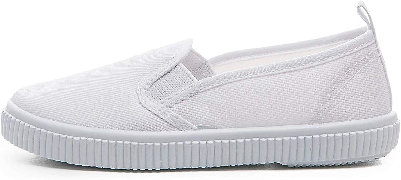 Je-Gou Boys Girls Classic Canvas Slip On Fashion Sneaker Skate Tennis Shoes