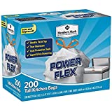 Member's Mark 13 gal Power Flex, Leak Protection, Tall Kitchen Simple Fit Drawstring Bags (Flex Power)