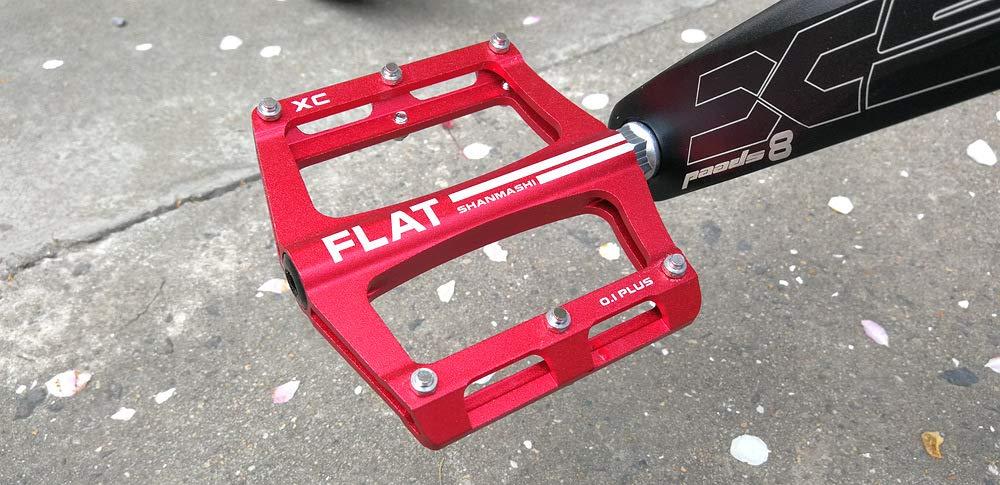 FrontStep P/édales faciles de Bicyclette en Aluminium de p/édale antid/érapante de pour la p/édale de v/élo de Montagne//v/élo de Montagne//p/édale BMX avec laxe en Acier de CR-Mo