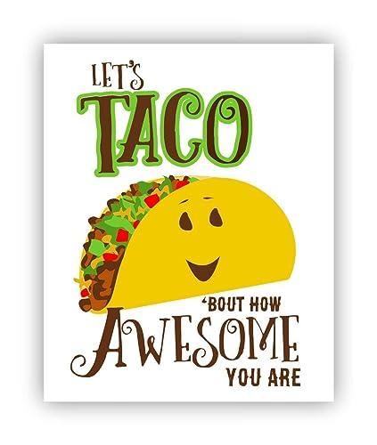 amazon com taco pun funny congratulations poster 11 x 14 handmade