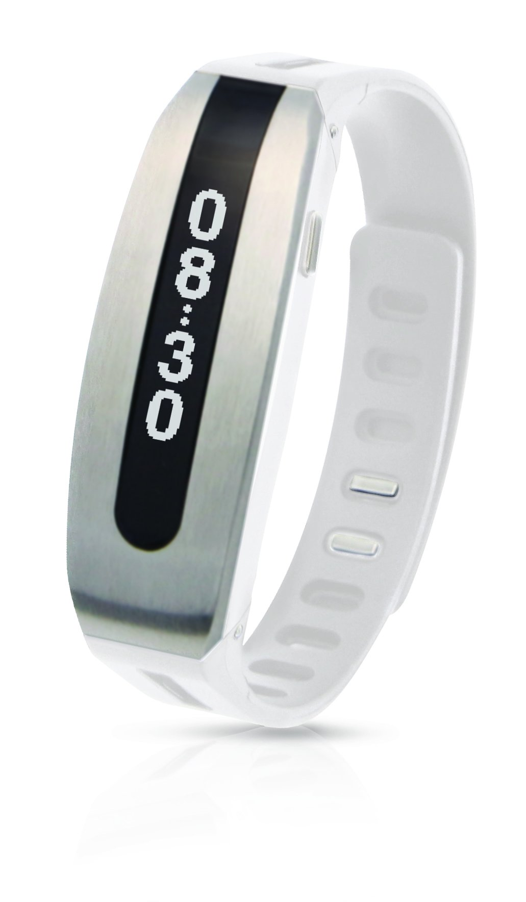 PAPAGO! GOLiFE Care Smart Fitness Band, Activity Tracker, Sleep Monitor, Smart Notification, Text Message, Emails, Social Medias, Messengers, Alarms, Idle Alert (Silver White)