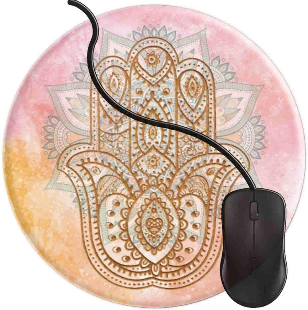 Mouse Pad for Computers,Gaming Mouse-Pads Office for Laptop Mouse Mat for PC Non Slip Mice Pad Spiritual Hamsa Hand Yoga 2T304